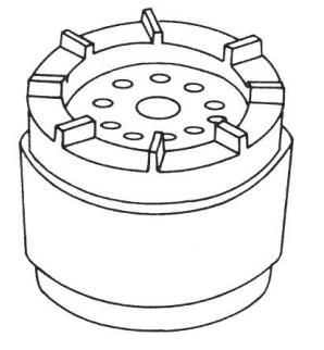 Типичный алюминиевый ротор электрического двигателя